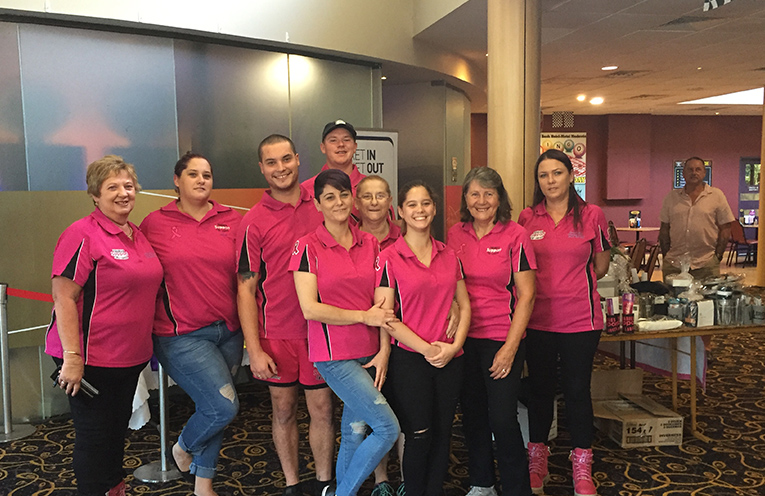 The Pink Army at Tradies Support the Ladies Launch Party.