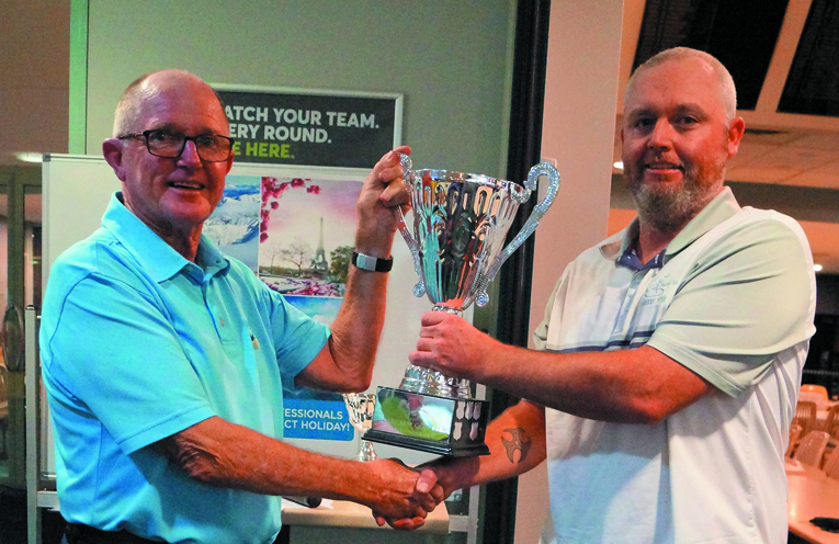 ALTITUDE TRAVEL CUP WINNER: Capt. Les Miller with Joshua Greenwood.