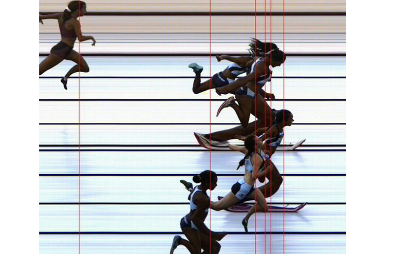NATIONAL CHAMPIONSHIPS: Photo Finish in the 100 metre sprint.