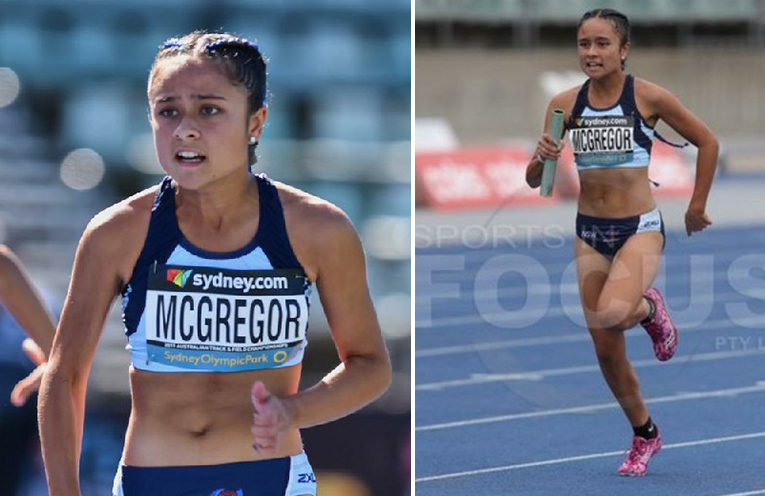 AUST NATIONAL ATHLETICS CHAMPIONSHIPS: Keira McGregor on the track.