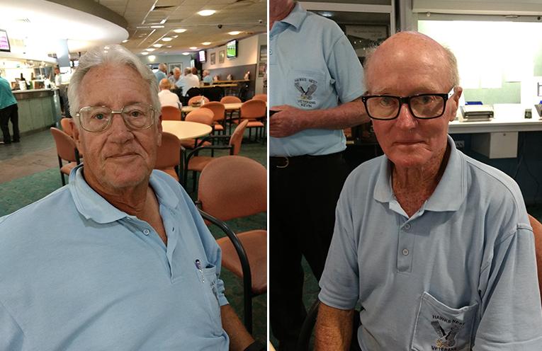 Front nine winner Len Gough. (left) Back nine winner Lyle Hudson. (right)
