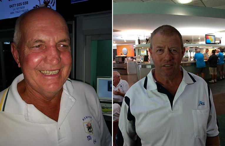 A Grade winner Col Bagnall.  (left) B Grade winner Paul Forsyth.  (right)