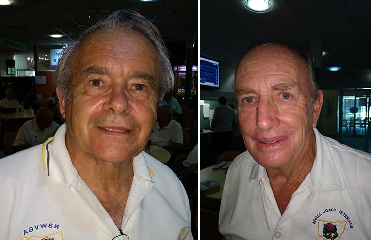 B Grade winner Bob Ziehlke (left) C Grade winner Darrell Scott. (right)
