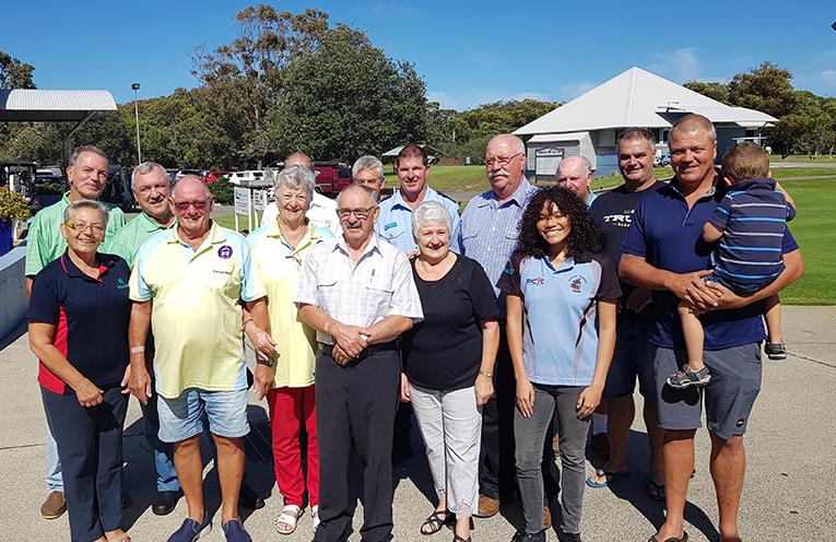 HAWKS NEST GOLF CLUB: Police Charity Golf Day Recipients.