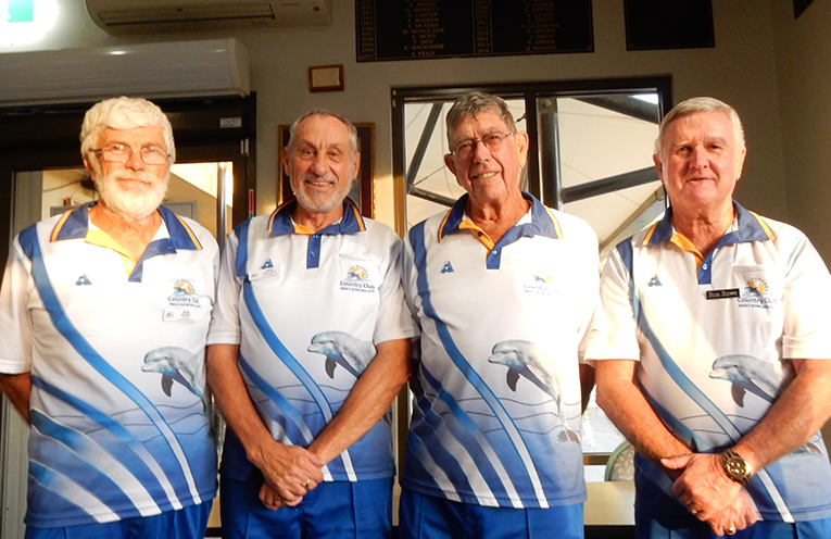 Alan Greenhalgh Four after another great win in the Grade 7 Pennants Competition. Bob Peady, Mike Dellaca, Alan Greenhalgh and Ron Rowe.
