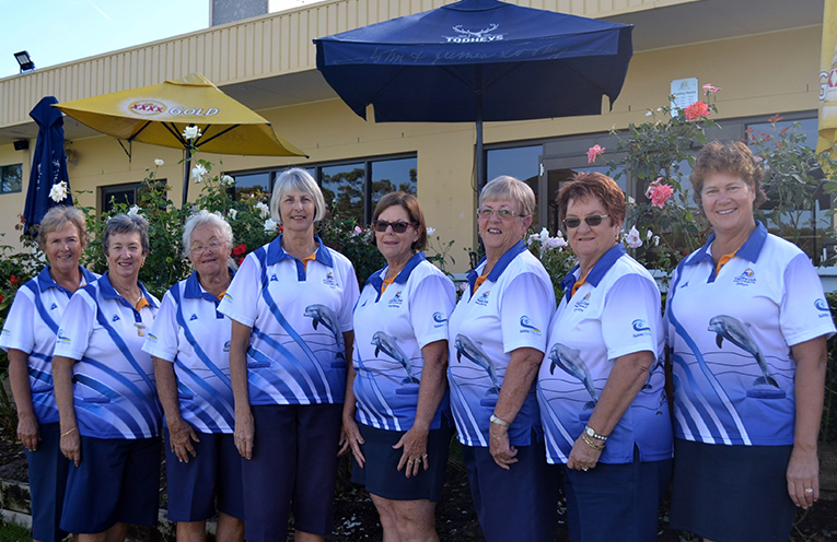 Grade 2 Pennant Side: Sandra Leisemann, Robyn Webster, Maynie Roberts, Pat Baker, Kayelene Pearson, Lynne Green, Deyonne Page and Robyn Beaumont