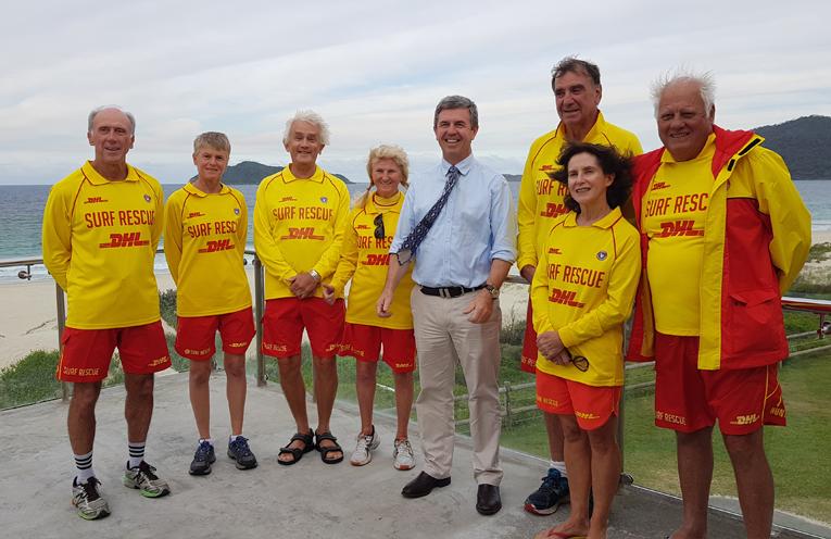 TEA GARDENS HAWKS NEST SURF CLUB: Dr David Gillespie announces $300,000 for club house renovations.