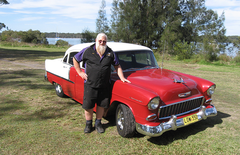 Geoff Camm with his prize winning Chevvy.