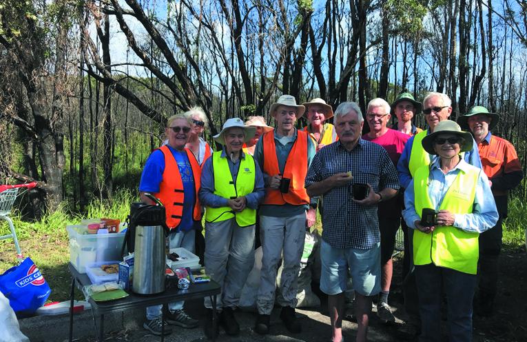 Landcare program by community volunteers.