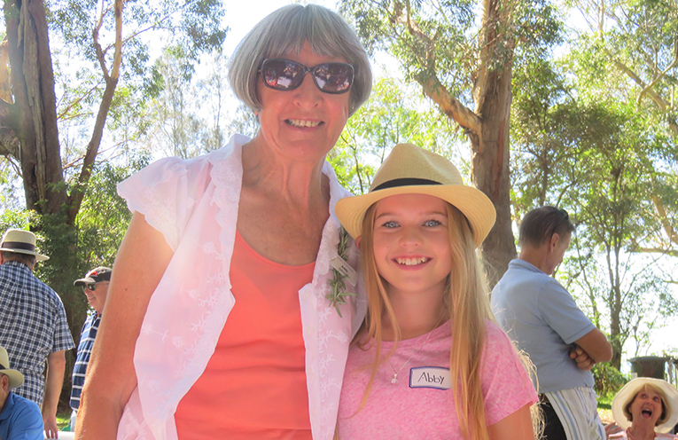 Abby and Ann Gibson at the Probus Club BBQ.