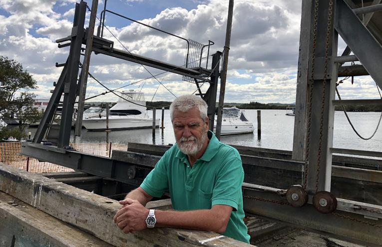 SLIPWAY PROJECT: Tea Gardens Slipway Association President, Paul Bendy.