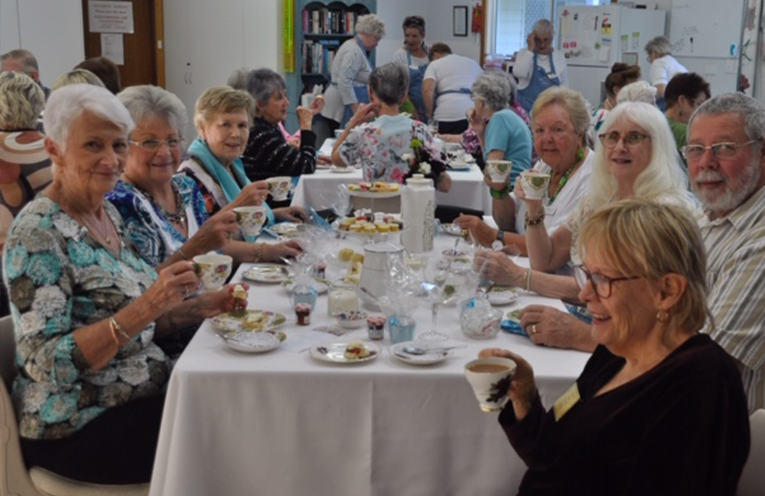 VOLUNTEERS THANKYOU: High Tea at the Myall Arts and Craft Centre.