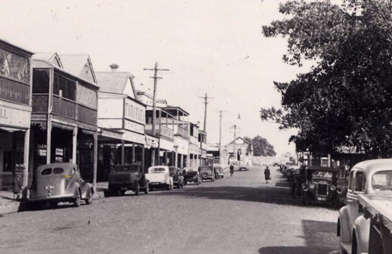 Historical King Street.   Photo Courtesy of Raymond Terrace Historical Society.