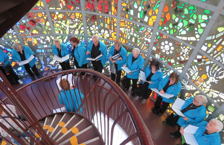 The SeaSide Singers performing on their recent tour of Japan.
