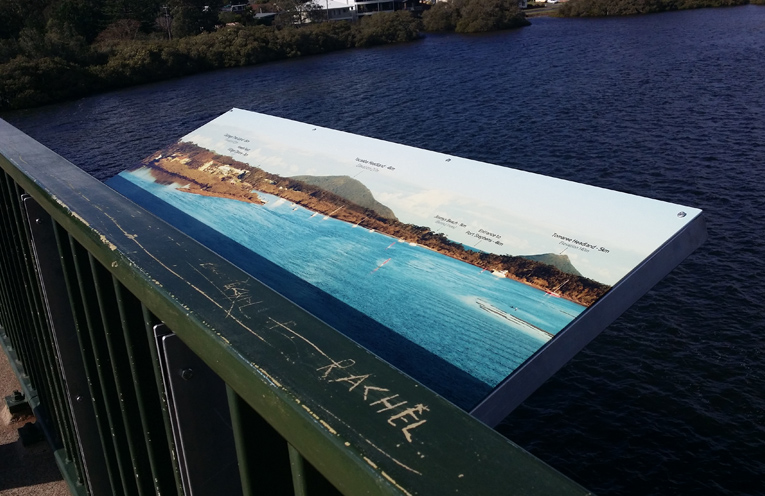 Singing Bridge 'Horizon' Signs provided by Lorraine Lock.