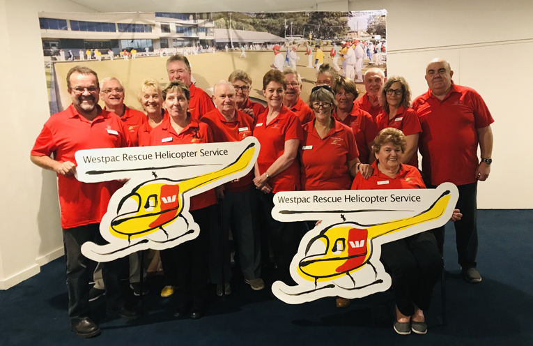 The Port Stephens WESTPAC Rescue Helicopter Volunteers who fundraise for the cause.