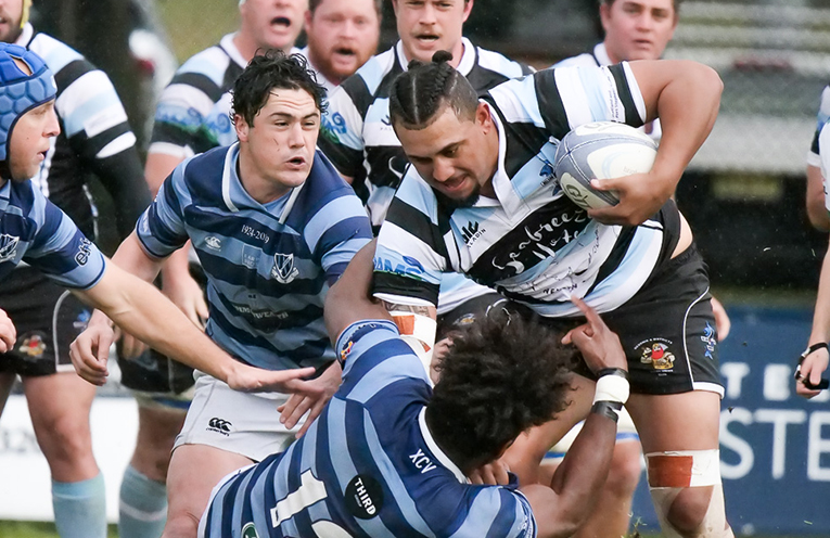 CJ Smith refusing a Wanderers player's rebuttal. Pic courtesy of the NHRU.