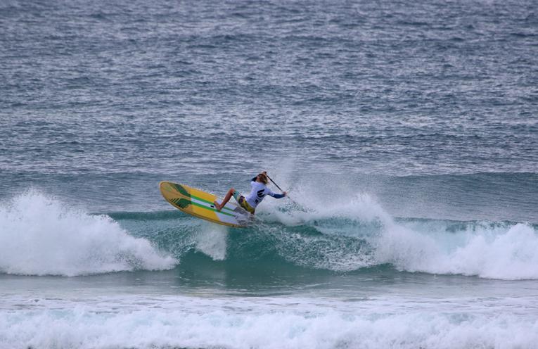 Local surfer Josh Stretton in action.