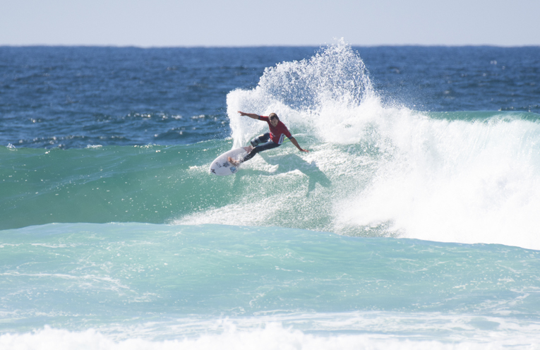 Jay Phillips carving it up. Photo by Ethan Smith Surfing NSW.