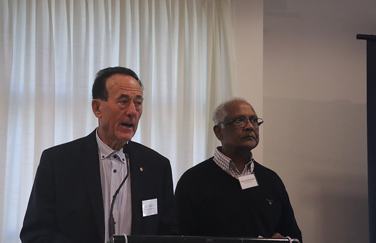 Bob Westbury and Selva Saverimuttu.