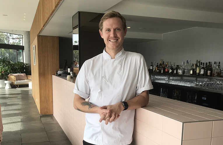 Bannisters Chef Mitch Turner who will be part of the team delivering the Love Seafood Gala event. Photo by Marian Sampson.