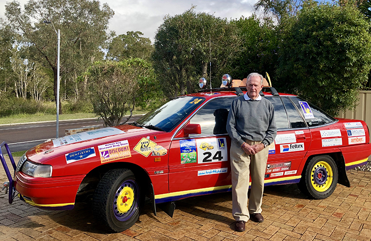 Peter Page with his '92 Statesman.