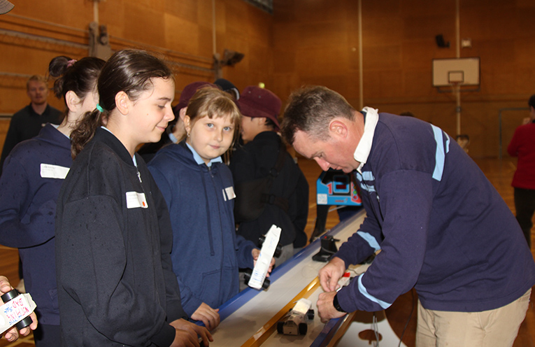 Students from other school with Brent Smith (Teacher) - STEM