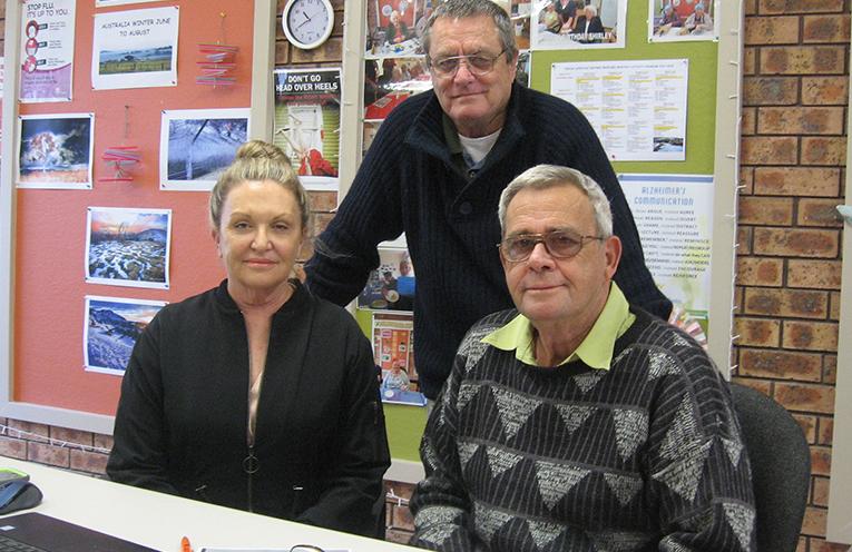 Cherylee King, Graham Atkinson and Jim Horton at their Tanilba office.