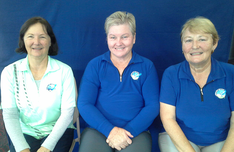 Winners of June Monthly Medals Dawn Gough, Cathy Griffith and Debbie Matheson.