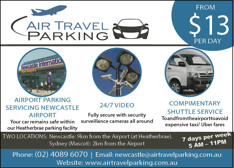 Air Travel Parking Newcastle and Port Stephens
