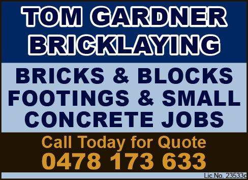 Tom Gardner Bricklaying