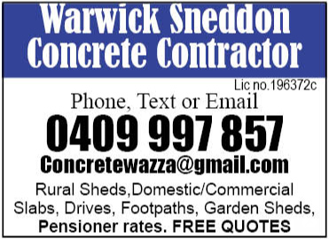 Warwick Sneddon Concrete Contractor