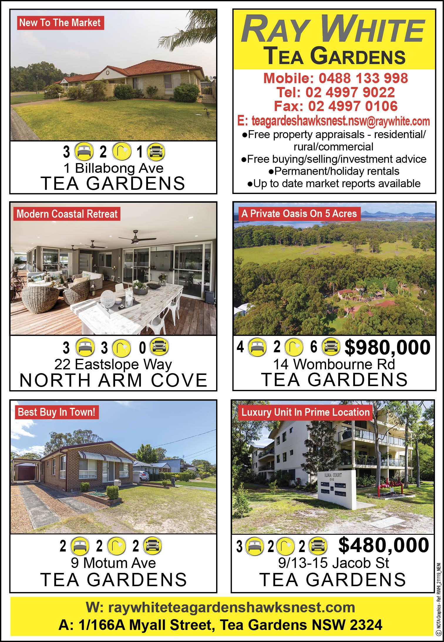 Ray White Real Estate Tea Gardens