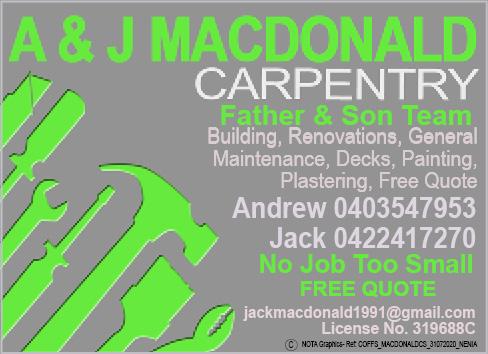 A & J MacDonald Carpentry